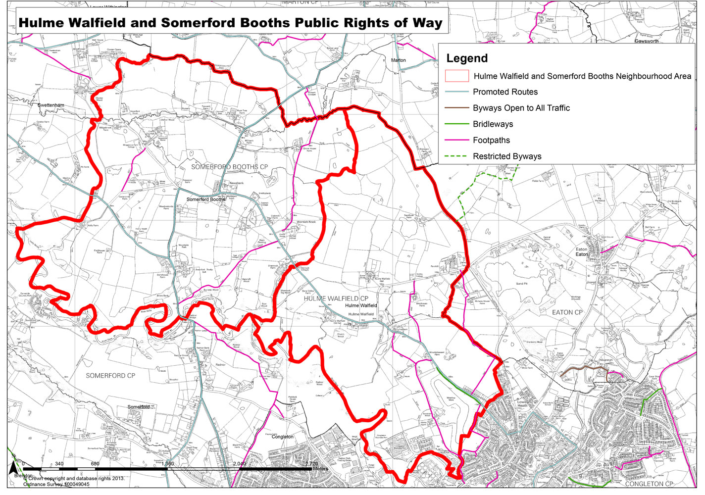 Hulme Walfield and Somerford Booths Public Rights of Way