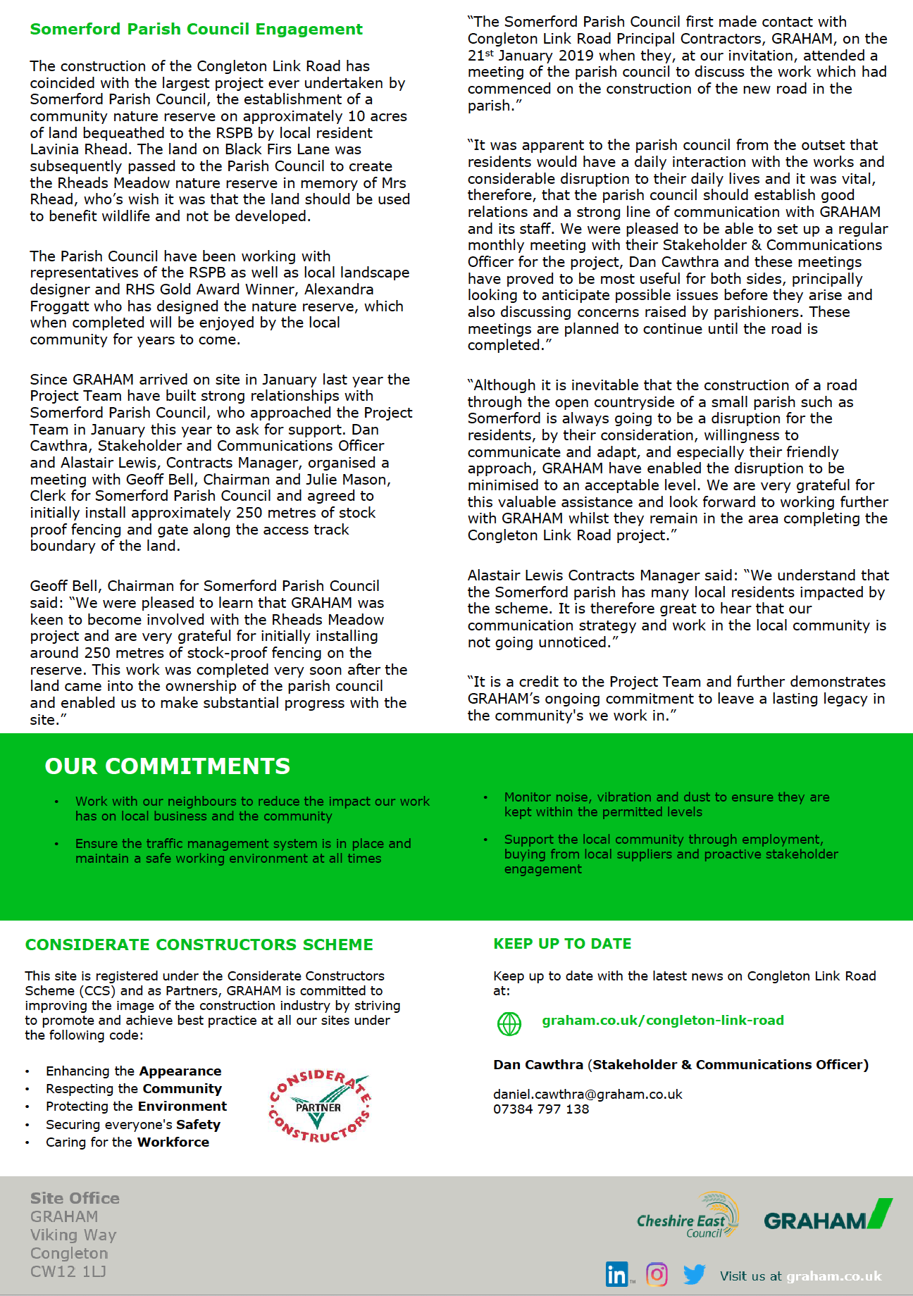 Congleton Link Road March Newsletter Page 2