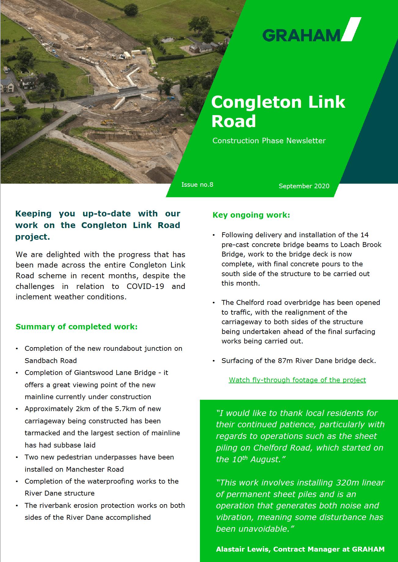 Congleton Link Road September Newsletter