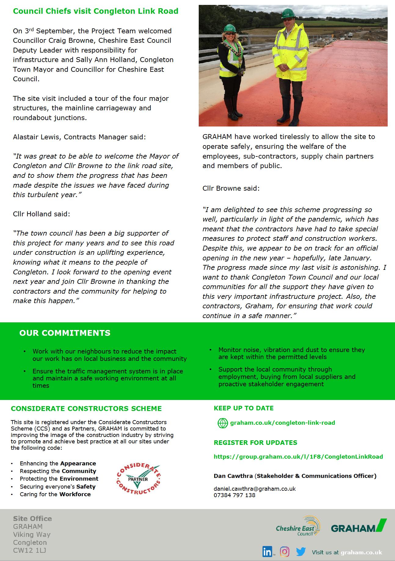 Congleton Link Road September Newsletter page 2
